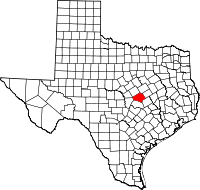 Bell County map